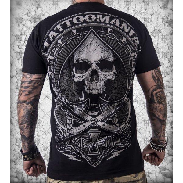 Motorkářské triko motiv lebka.  b4f3ad4a61